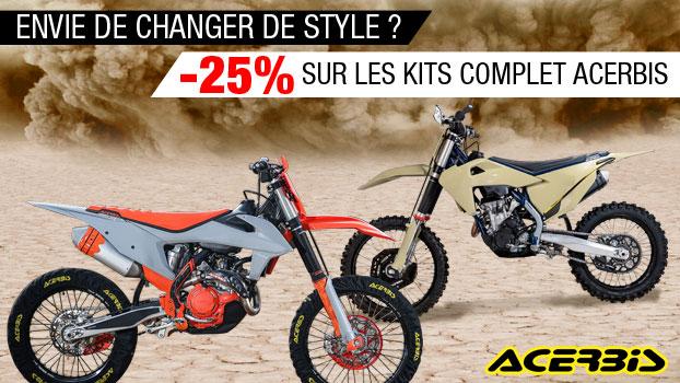 -25% de remise sur les Kits plastique ACERBIS Honda complet