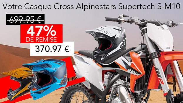 47% de remise sur une gamme de Casque Cross Alpinestars Supertech S-M10