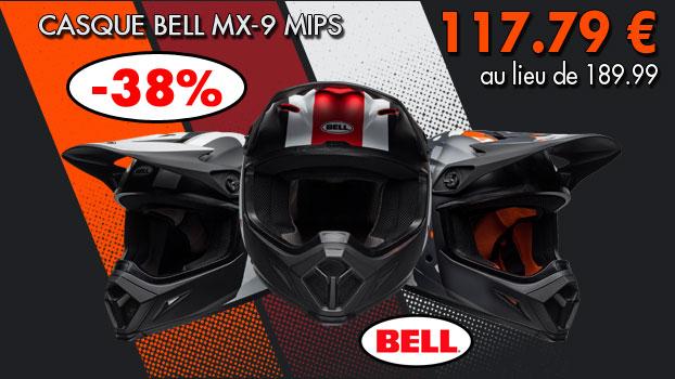 Casque BELL MX-9 MIPS Presence à     -38%