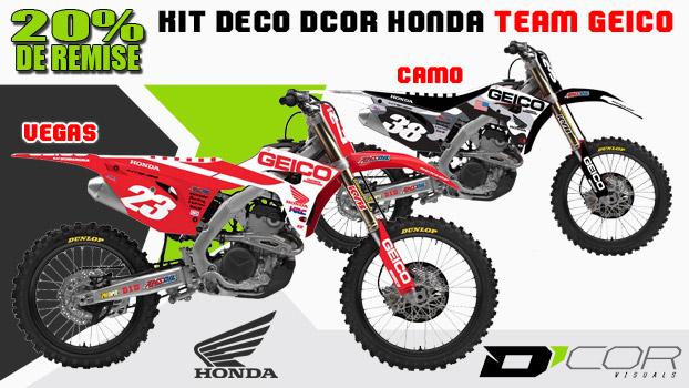 Kit deco Dcor Honda Team Geico Camo ou Vegas