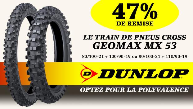 47% sur le Train de Pneu cross Dunlop Geomax MX 53
