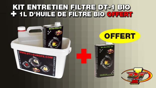 kit entretien filtre dt-1 bio avec 1 litre huile filtre air dt 1 bio offert sur oh-motos