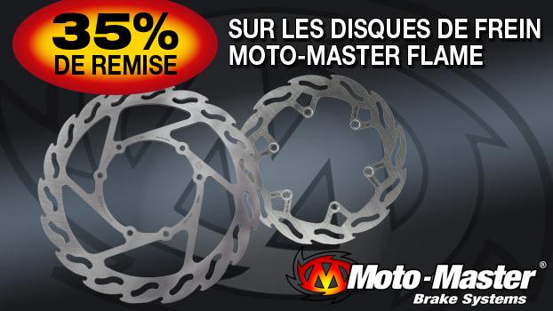 35% de remise sur les disques Moto Master Flame