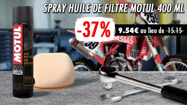 37% de remise sur le Spray Huile de filtre Motul 400 ml