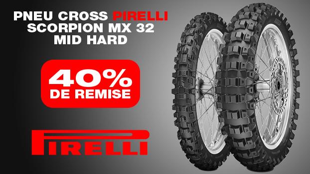 40 % de remise sur le pneu cross pirelli scorpion mx 32 mid hard