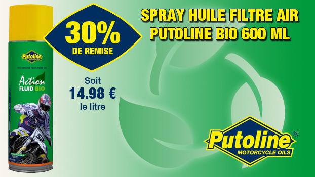 30% de remise sur le Spray huile filtre air Putoline Bio 600 mL