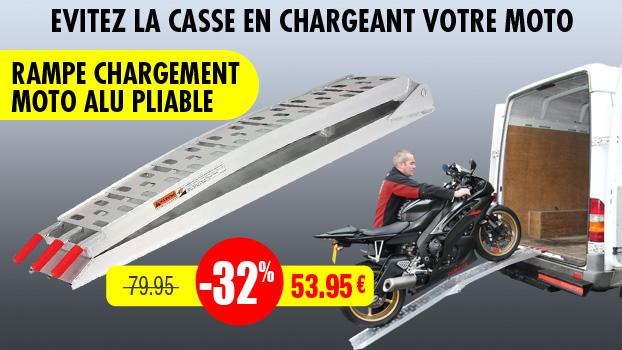 32% de remise sur la rampe de chargement moto en aluminium pliable
