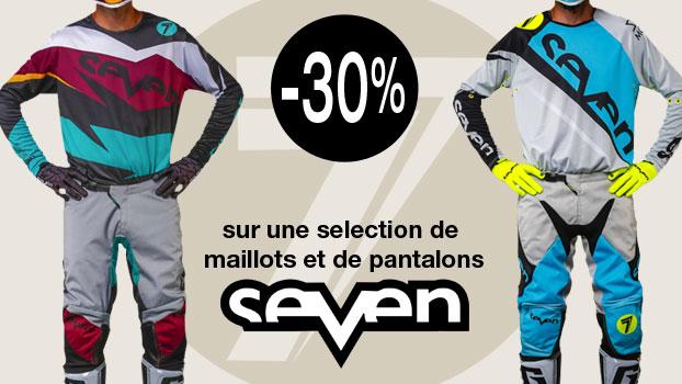 30% sur une sélection de maillot et pantalon Seven.