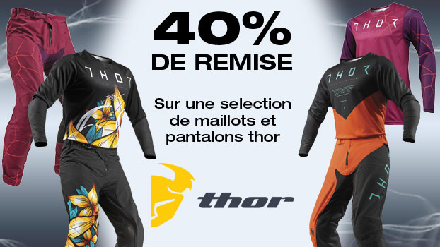 40% sur une sélection de maillots et pantalons Thor