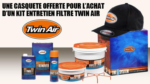 kit entretien filtre twin air avec casquette offerte