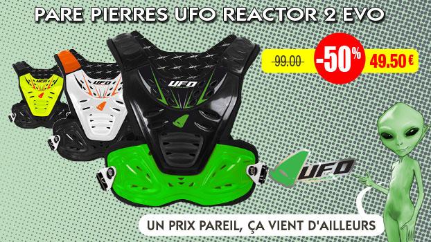 50% sur les Pare pierres UFO Reactor 2 Evo Vert Noir adulte