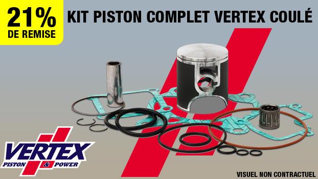 21% de remise sur le Kit piston complet Vertex coule