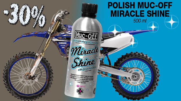 30% de remise sur polish muc-off miracle shine 500ml