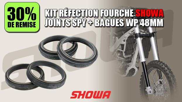 30% de remise sur le Kit joints spy fourche et bagues SHOWA WP 48mm