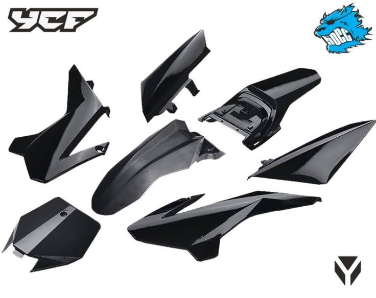 YCF kit plastique 50cc Noir 2020