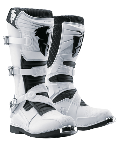 Bottes cross Thor Ratchet Blanches