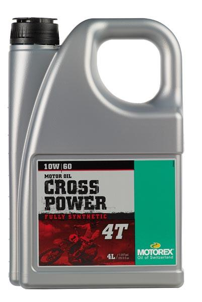 Huile Motorex Cross Power 4T 10W60 4L