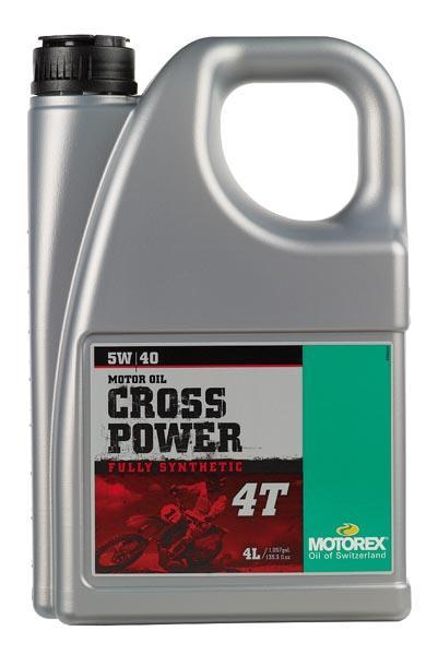 Huile Motorex Cross Power 4T 5W40 4L