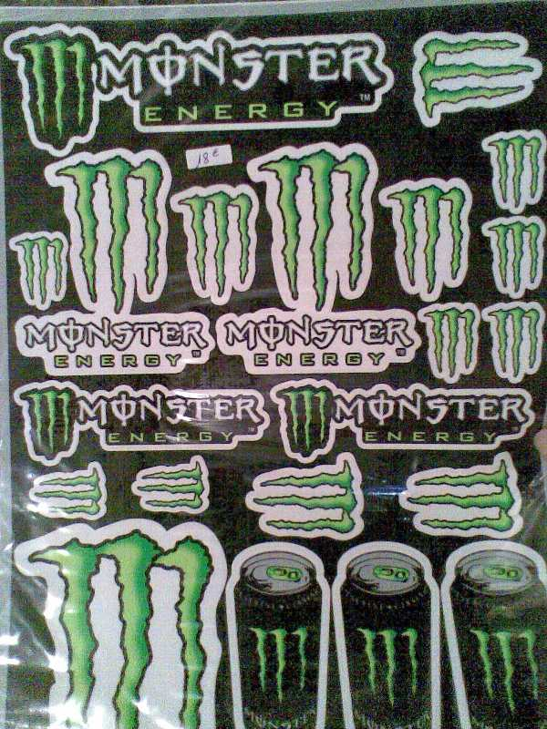 Planche Stickers Monster