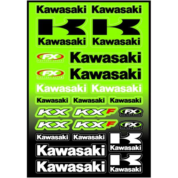 Planche sticker FX Kawasaki KX KXF