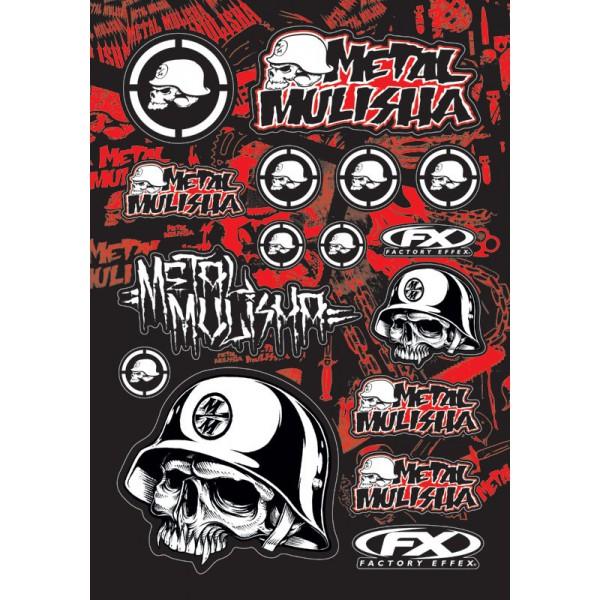 Planche sticker motocross Metal Mulisha 1