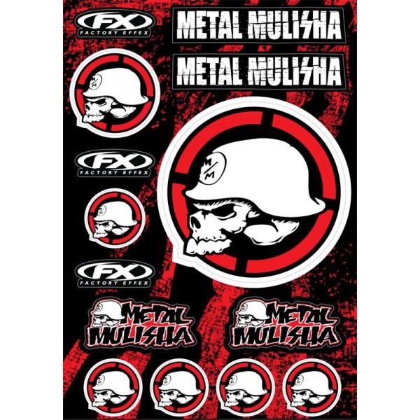 Planche sticker Metal Mulisha