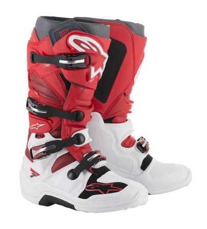 Bottes Alpinestars Tech 7 Rouge Blanc