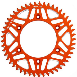Couronne S-Teel anti-boue orange 49 dents