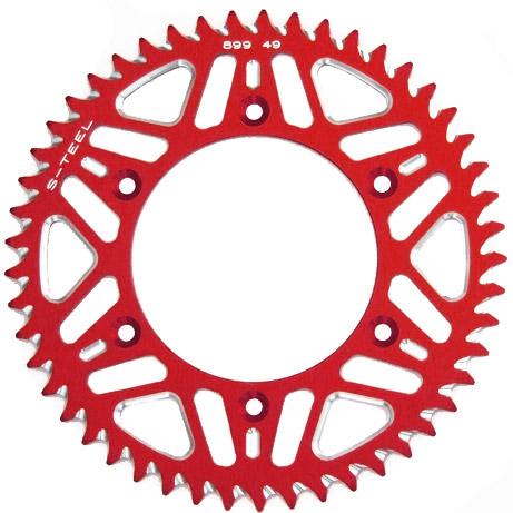 Couronne S-Teel anti-boue rouge 49 dents