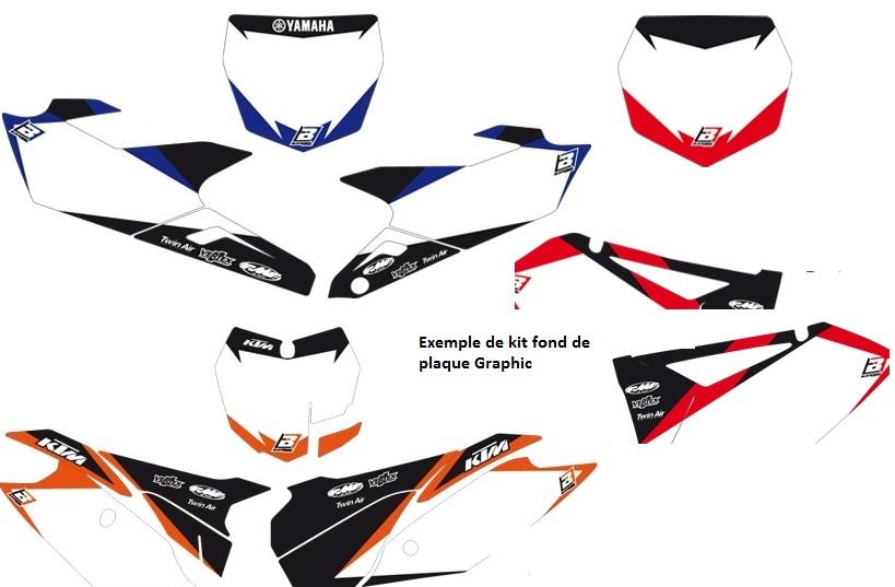 Planche adh/ésive BLACKBIRD RACING D/éco Dirt Bike Blanc