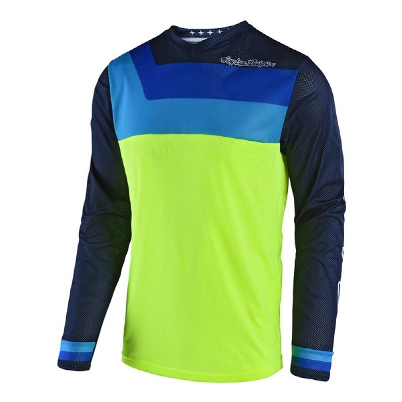 Maillot Troy Lee Designs GP Air Prisma Jaune Fluo