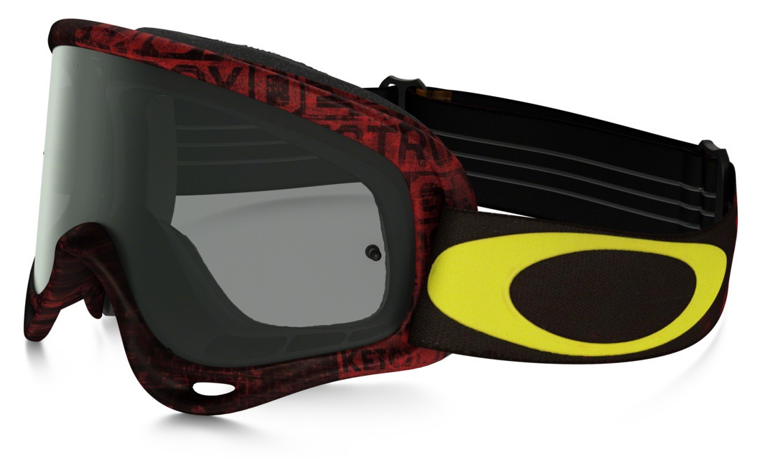MASQUE OAKLEY O FRAME Distress Tagline Rouge Jaune