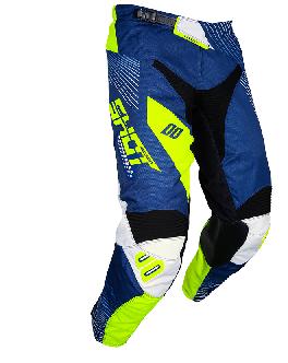 Pantalon Shot  - 2018 - Aerolite Optica Bleu jaune fluo