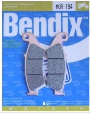 Plaquettes frein Bendix avant MOR
