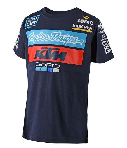 T Shirt Ktm Navy Team Tld Oh Motos