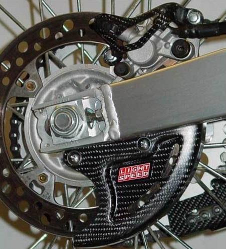 Kit Protege Disque Arriere Et étrier Carbone Pour Yamaha Yz Yz F 125 2t 2016 Oh Motos
